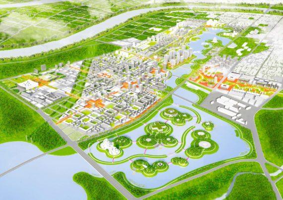 Sponge city concept rendering
