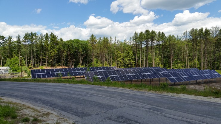 A 114-kW solar array for Warner, NH will help to keep the power on even if the grid goes down. Courtesy photo.