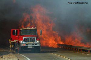 Lilac fire, near San Diego