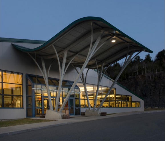 The Upper Valley Aquatic Center's 500 kW off-site, netmetered solar powers this local business. Courtesy Image.