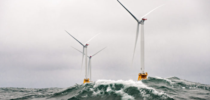 Turbines off Block Island, (Photo: RI Department of Energy)