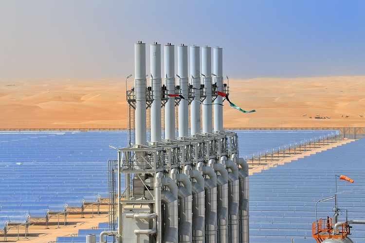 Shams 1 solar thermal plant (Masdar | Handout via Thomson Reuters Zawya)