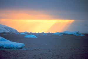 Antarctic sunset. NOAA photo.