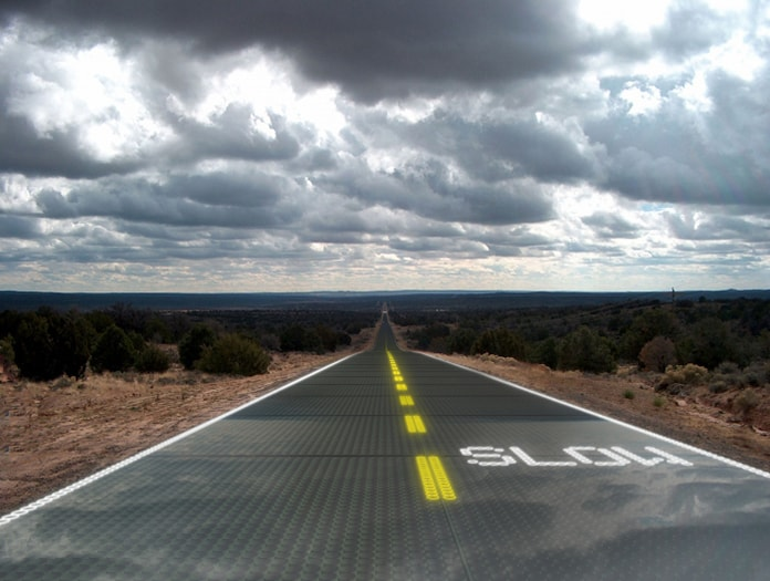 Solar Roadway project (Source: Designboom)