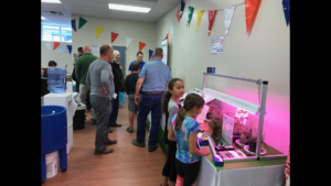 Children amazed on how LEDdynamics™ EverGrōT8® work during a makers fair in 2017. Courtesy photo.