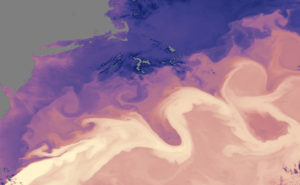 Flow of the Gulf Stream. NASA image.