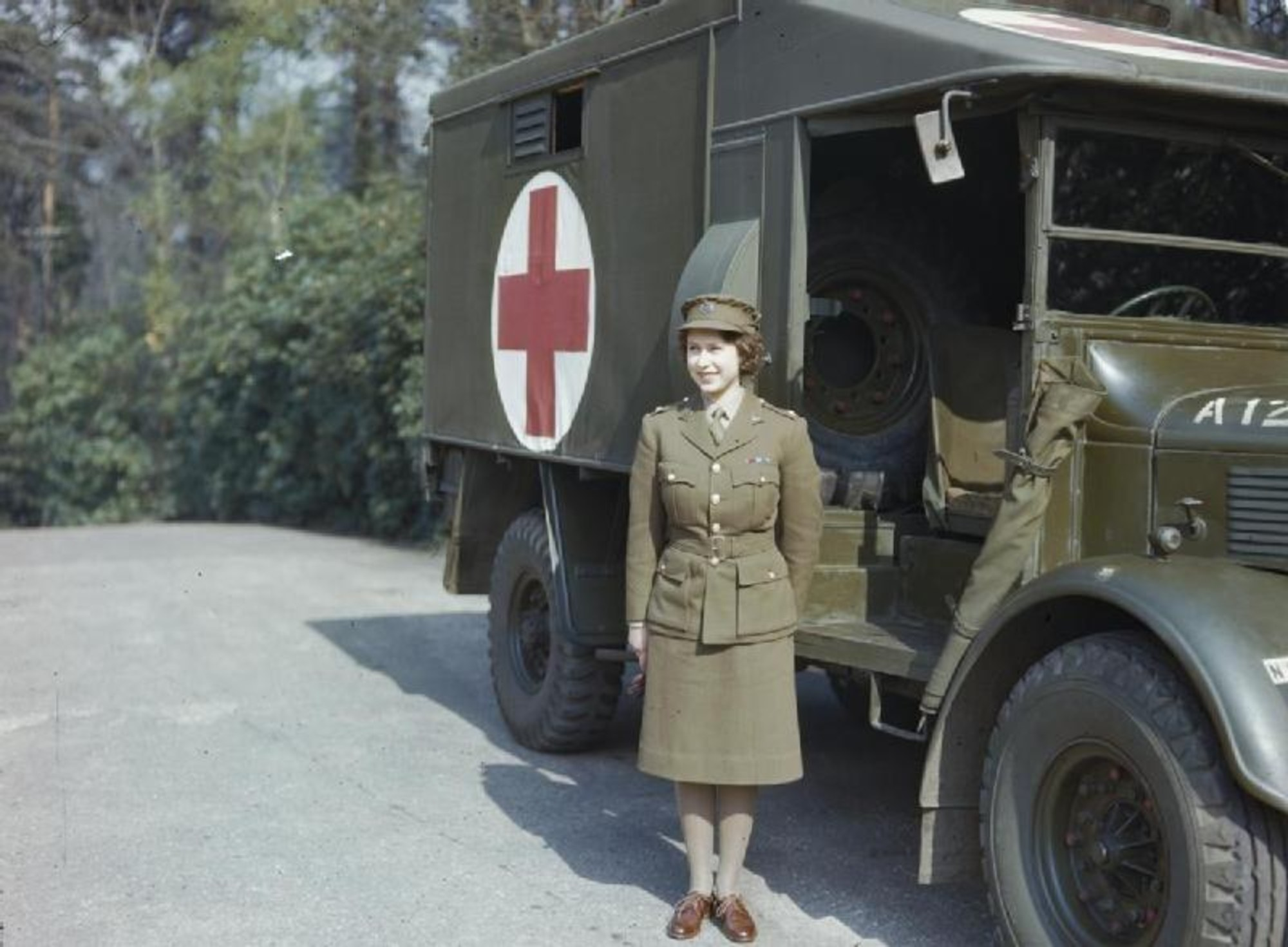 Green Energy Times Ambulance Inverter Wiring Diagram Queen Elizabeth When She Was A Truck Driving Princess Image Public Domain